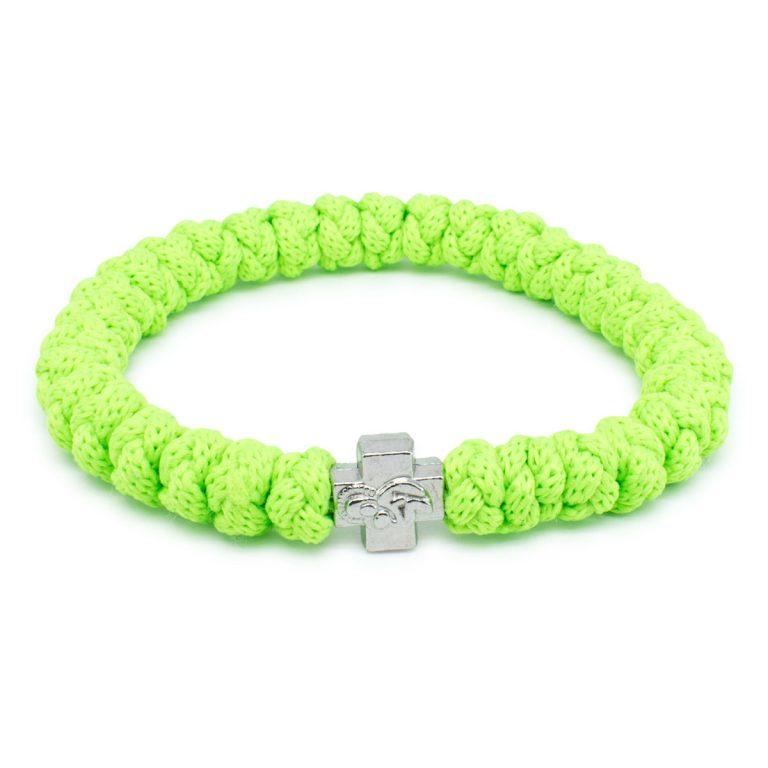 Neon Green Prayer Bracelet-0