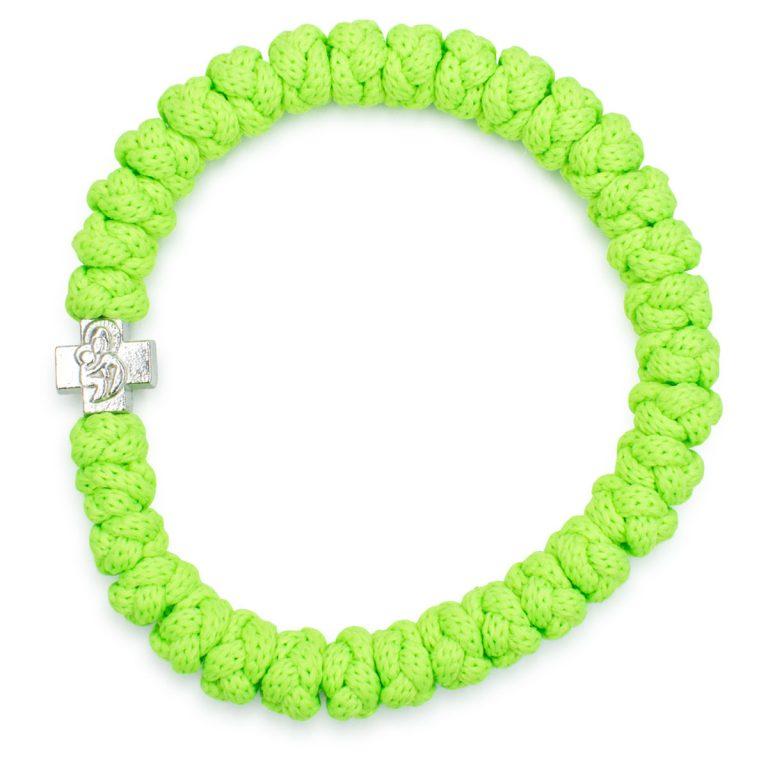 Neon green prayer bracelet