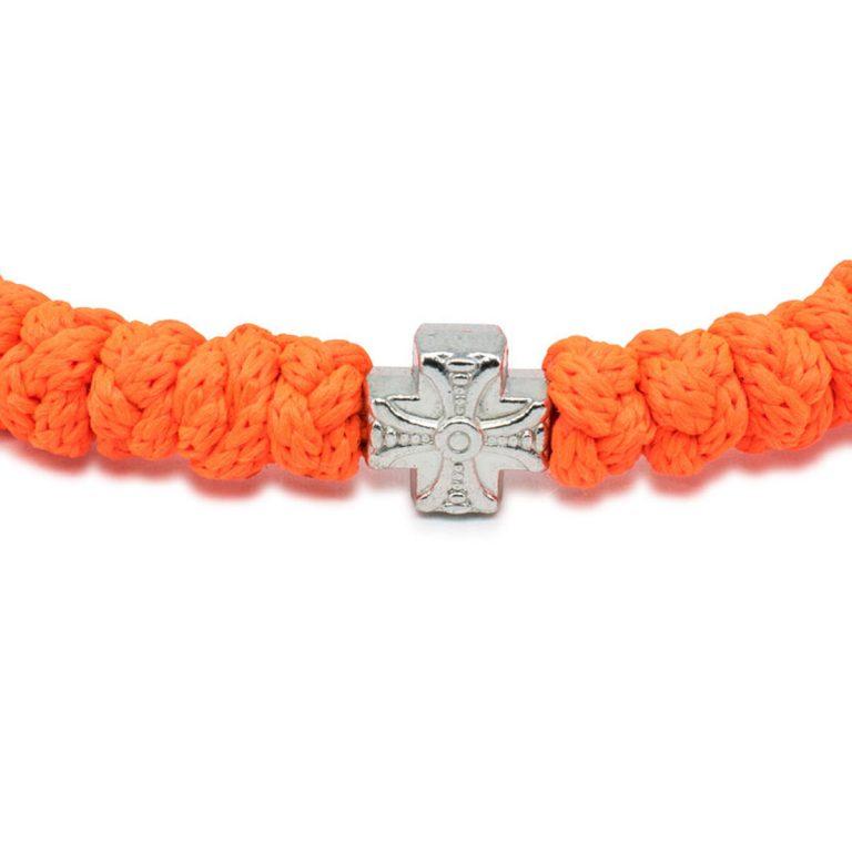Neon Orange Prayer Bracelet