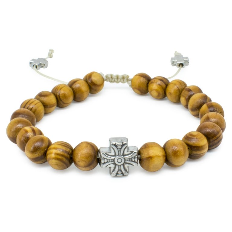 Wonderful Olive Tree Beads Wooden Prayer Bracelet