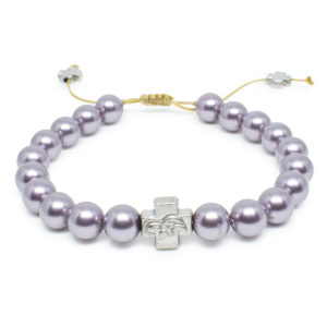 Purple Swarovski Pearl Prayer Bracelet-0
