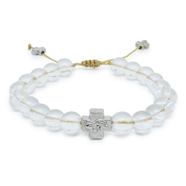 Crystal Quartz Stone Prayer Bracelet-0