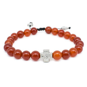 Red Carnelian Stone Prayer Bracelet-0