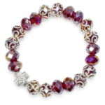 "Brilliant Red Glass Prayer Bracelet ""Sara"""
