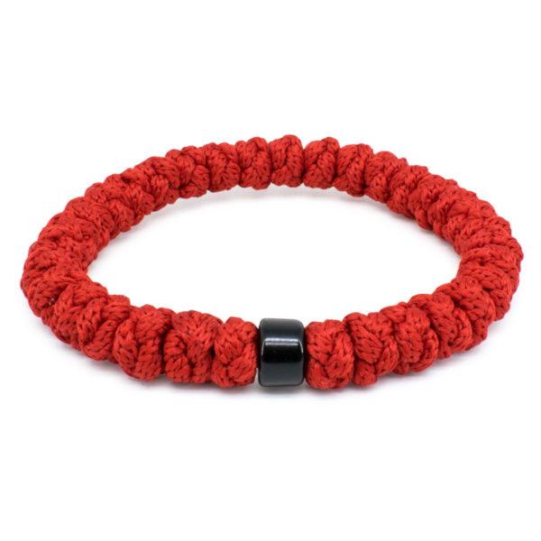 Red Prayer Bracelet with Bead-0