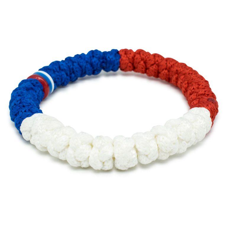 White and Blue prayer bracelet