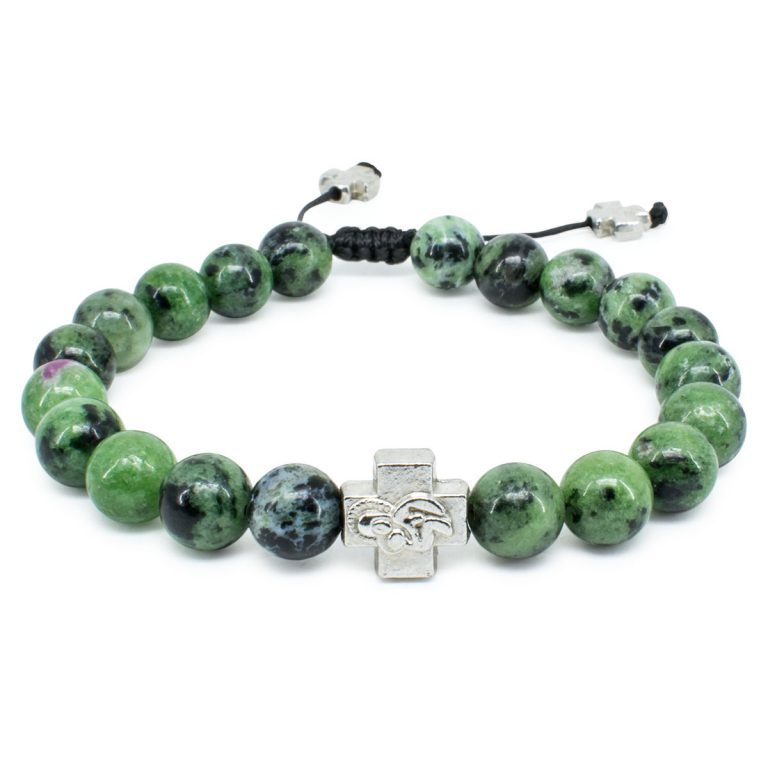 Ruby Zoist Stone Prayer Bracelet-0