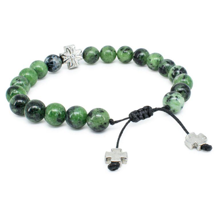 Dazzling Ruby Zoist Stone Prayer Bracelet