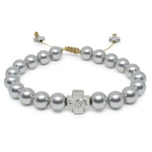 Silver Swarovski Pearl Prayer Bracelet-0
