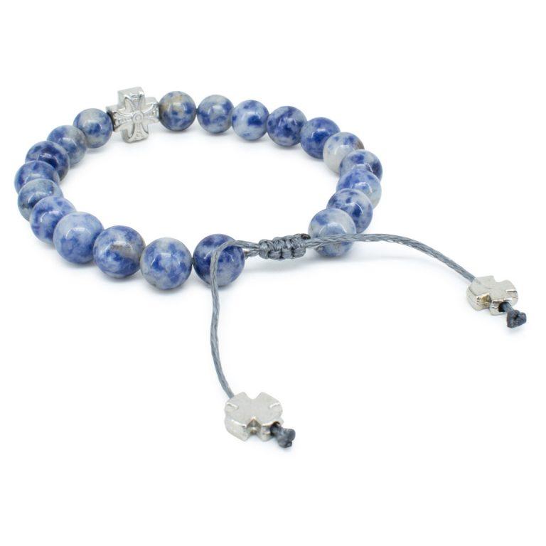 Graceful Sodalite Stone Prayer Bracelet