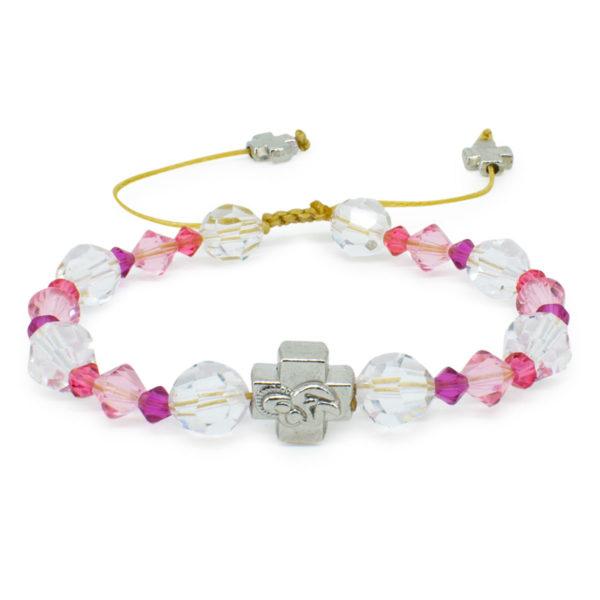 "Swarovski Crystal Prayer Bracelet ""Zoe""-0"