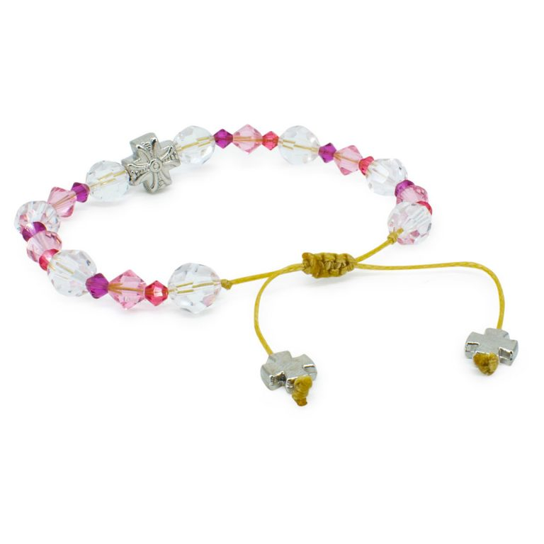 "Graceful Swarovski Crystal Prayer Bracelet ""Zoe"""