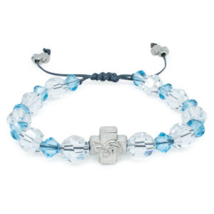 "Swarovski Crystal Prayer Bracelet ""Angel""-0"