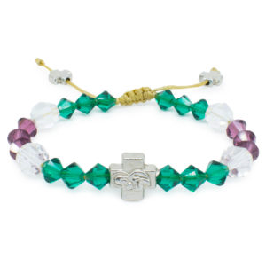 "Swarovski Crystal Prayer Bracelet ""Anna""-0"