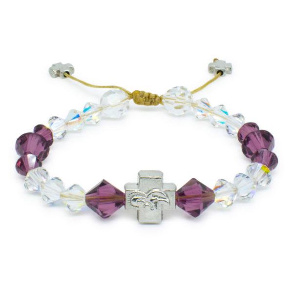 "Swarovski Crystal Prayer Bracelet ""Bella""-0"