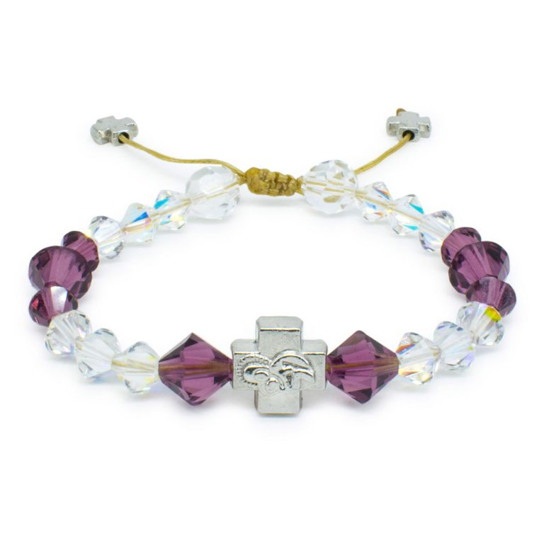 "Swarovski Crystal Prayer Bracelet ""Bella""-0"