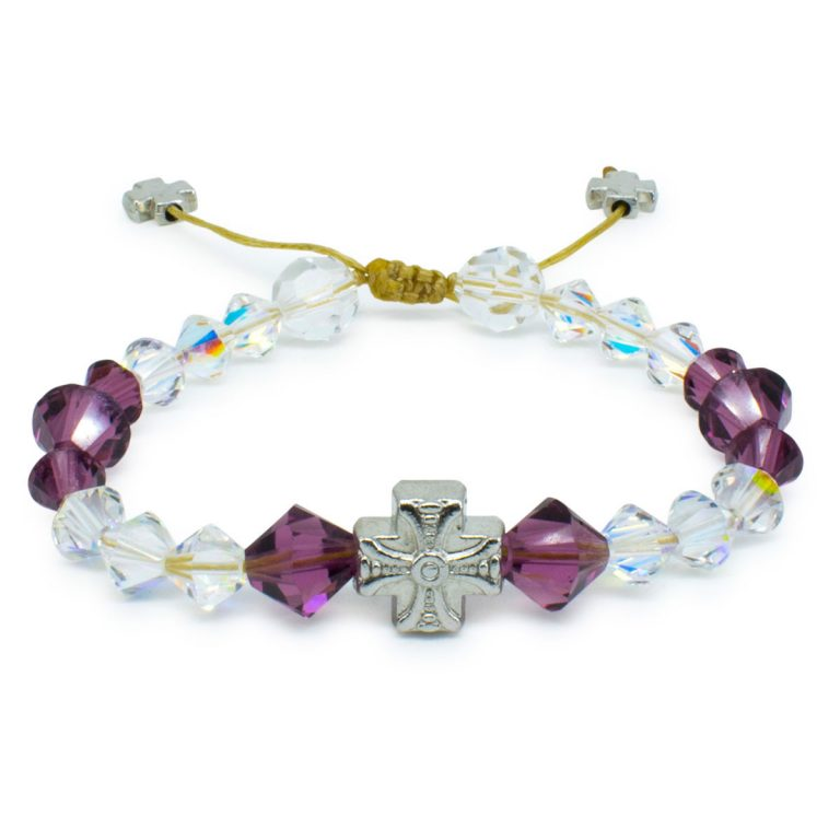 "Glorious Swarovski Crystal Prayer Bracelet ""Bella"""