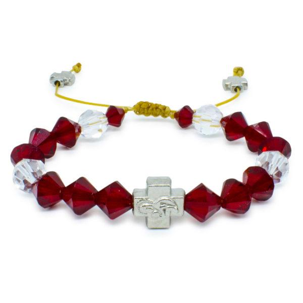 """Swarovski Crystal Prayer Bracelet """"Ruby""""-0"""