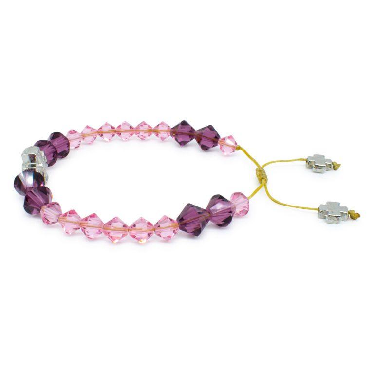 "Swarovski Crystal Prayer Bracelet ""Violet"""