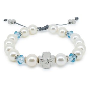 "Swarovski Pearl and Crystal Prayer Bracelet ""Eve""-0"