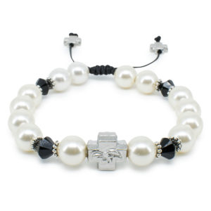 "Swarovski Pearl and Crystal Prayer Bracelet ""Irini""-0"