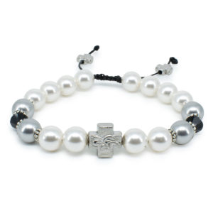 "Swarovski Pearl and Crystal Prayer Bracelet ""Magdalena""-0"