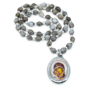 Tears From The Mother Of God Prayer Necklace-0