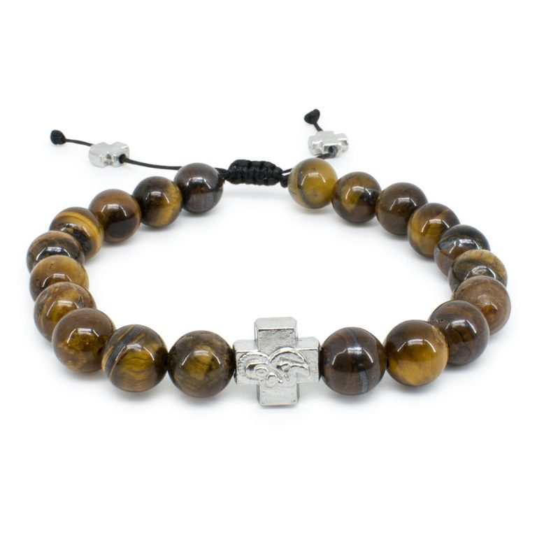 Tiger-Eye Stone Prayer Bracelet-0