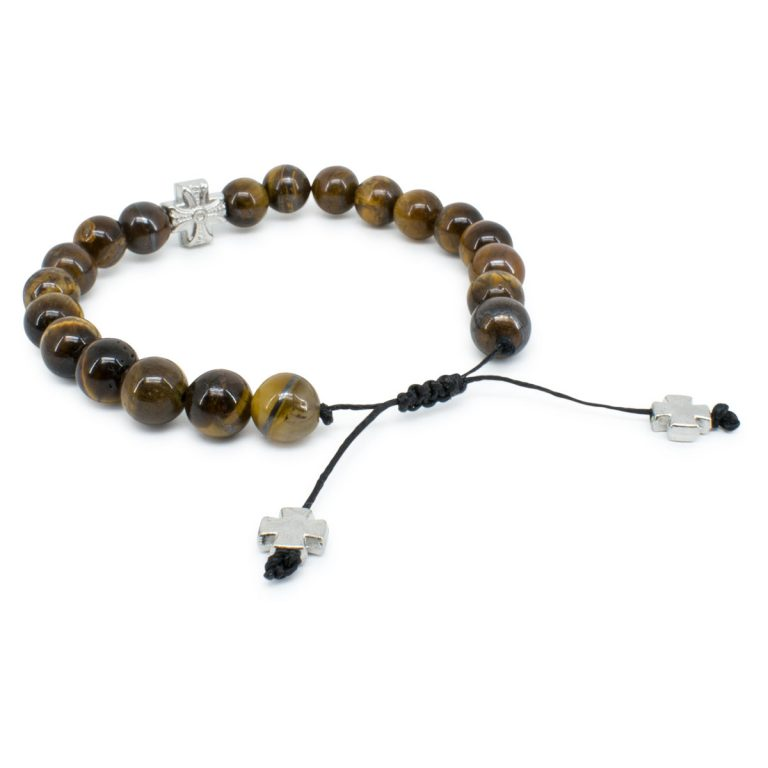 Spectacular Tiger-Eye Stone Prayer Bracelet