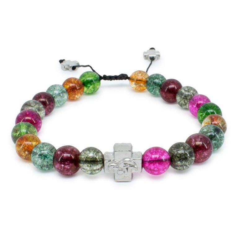 Tourmaline Quartz Stone Prayer Bracelet-0