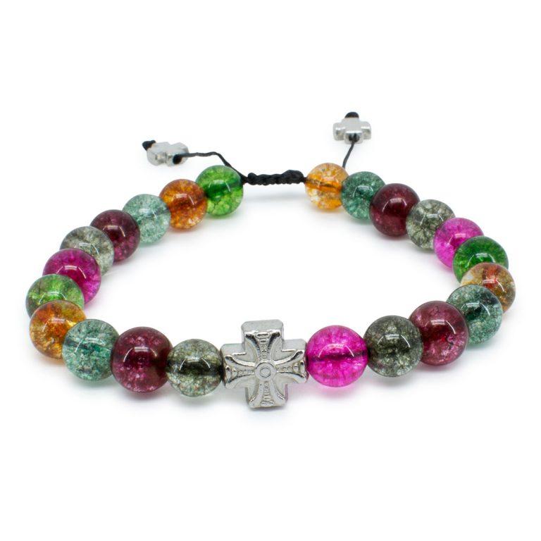 Phenomenal Tourmaline Quartz Stone Prayer Bracelet