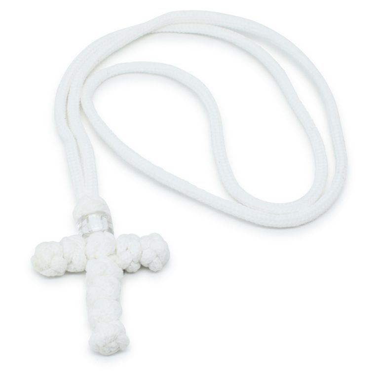 Orthodox White Cross Necklace -0