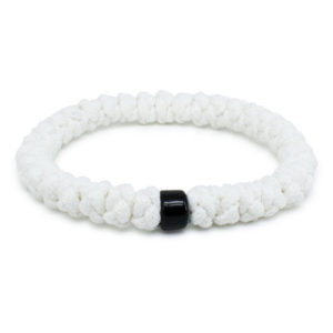 White Prayer Bracelet with Bead-0