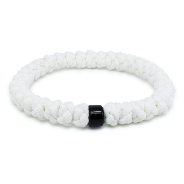 White Prayer Bracelet with Bead-0