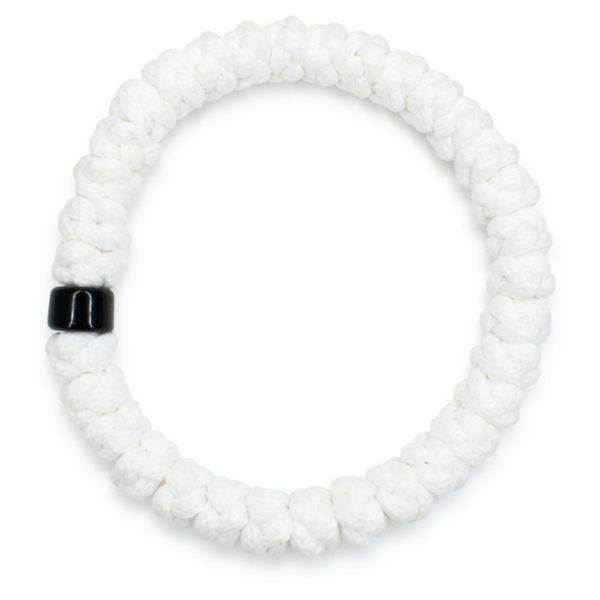 White prayer bracelet with bead