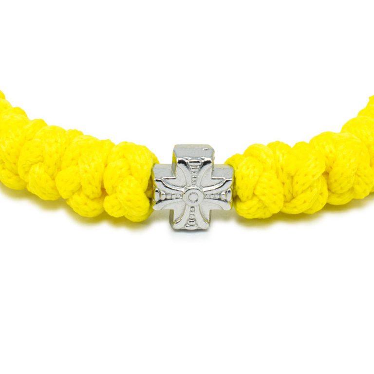 Neon Yellow Prayer Bracelet